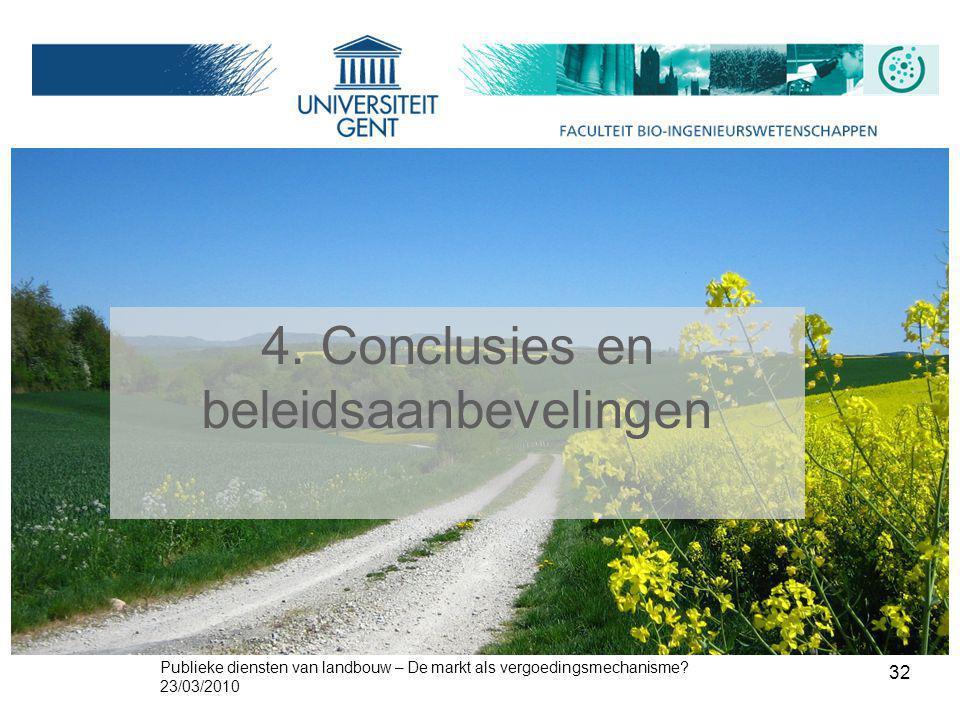 4. Conclusies en beleidsaanbevelingen