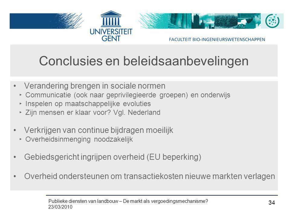 Conclusies en beleidsaanbevelingen