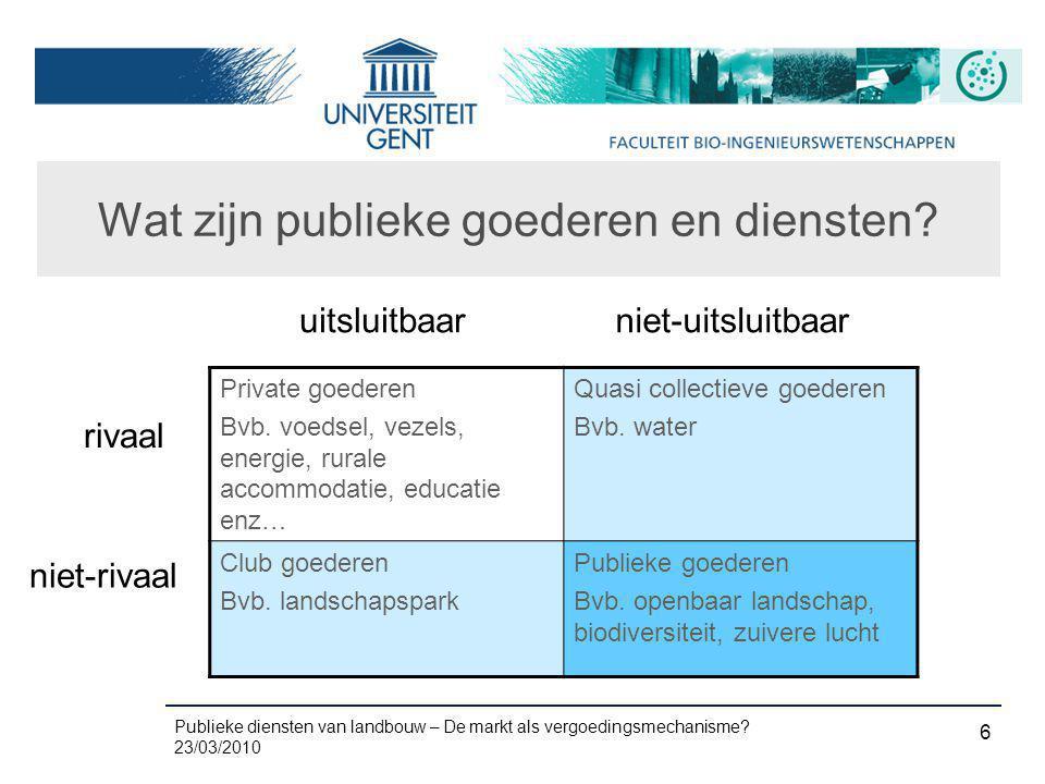 Wat zijn publieke goederen en diensten