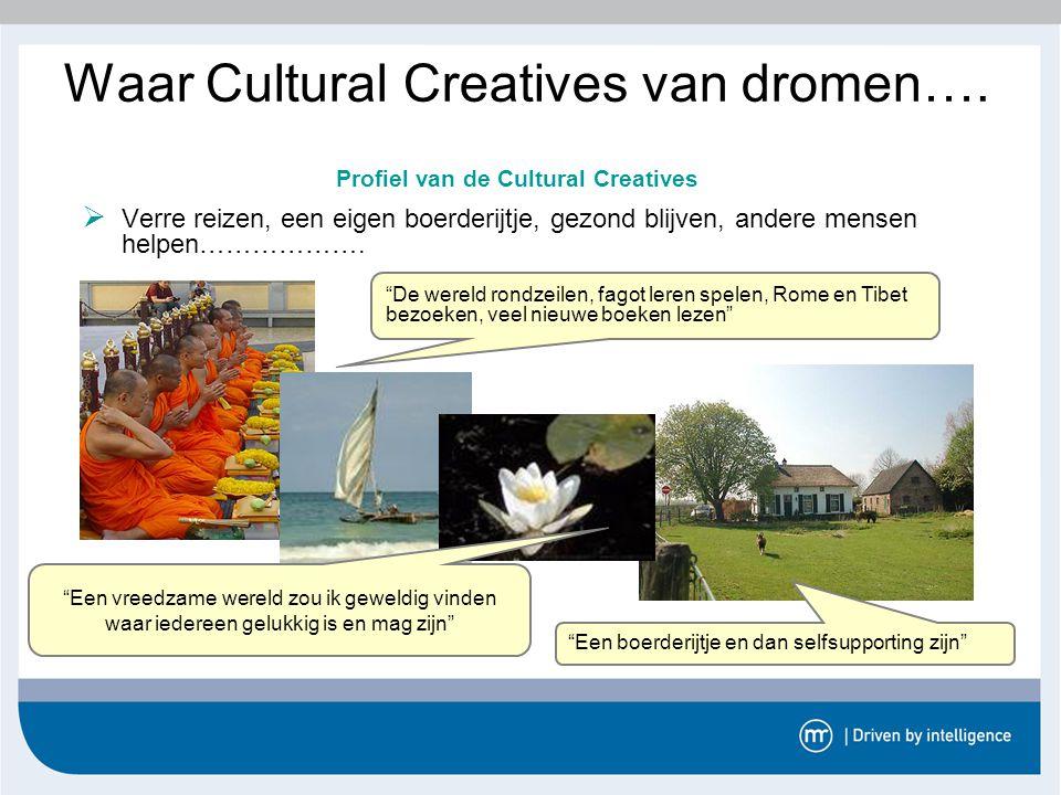Waar Cultural Creatives van dromen….