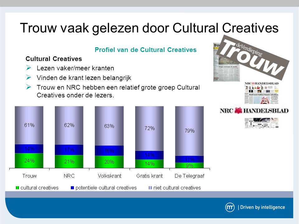 Trouw vaak gelezen door Cultural Creatives