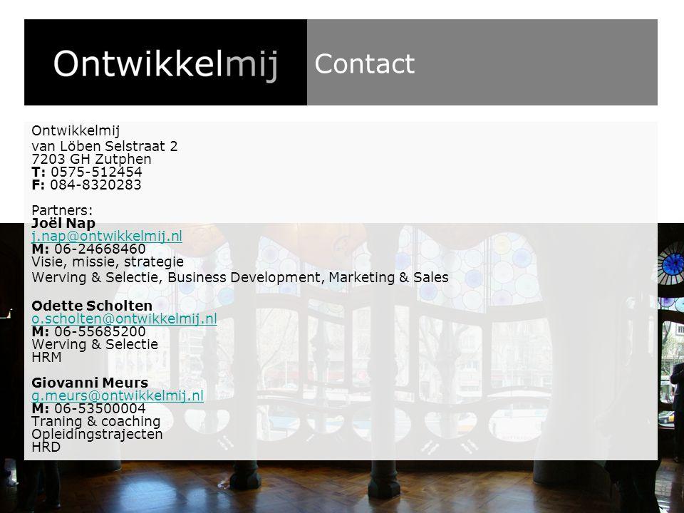 Contact Ontwikkelmij.