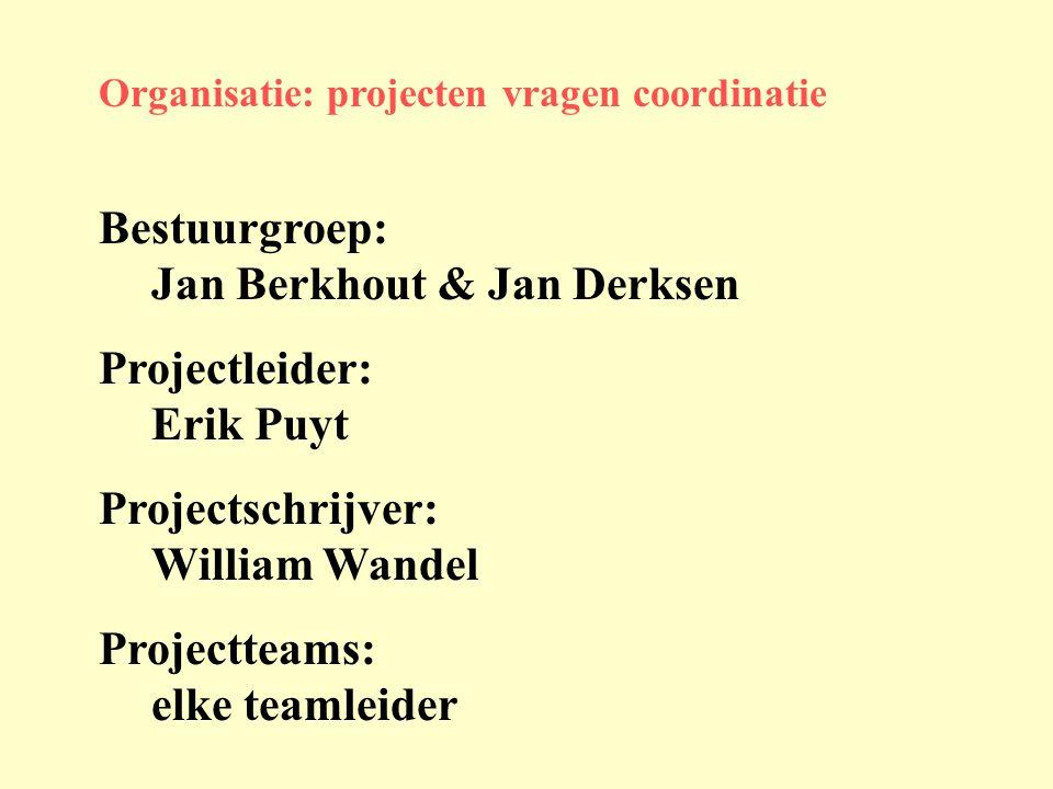 Bestuurgroep: Jan Berkhout & Jan Derksen Projectleider: Erik Puyt