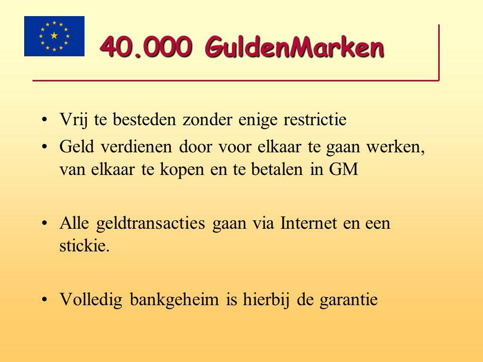 40.000 GuldenMarken Vrij te besteden zonder enige restrictie