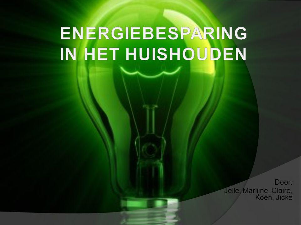 Energiebesparing in het huishouden