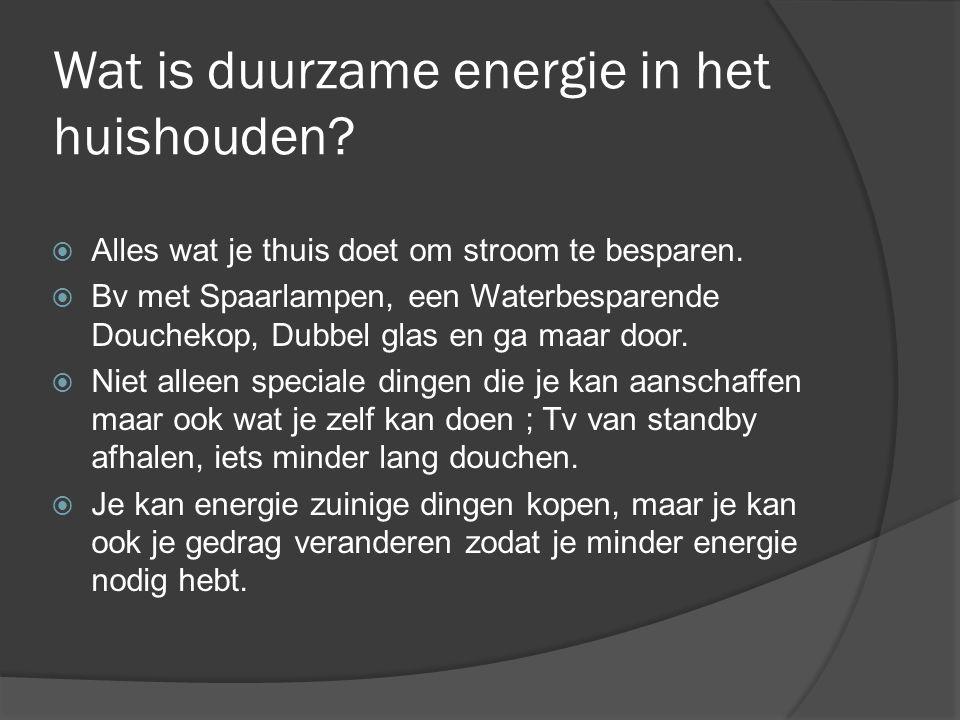 Wat is duurzame energie in het huishouden