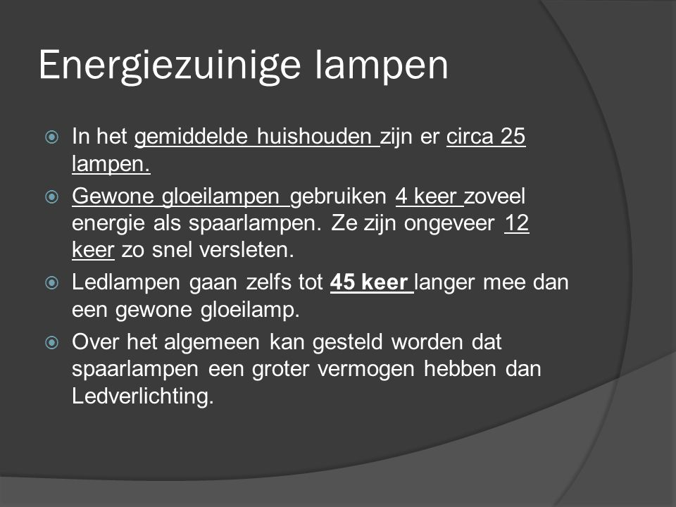 Energiezuinige lampen