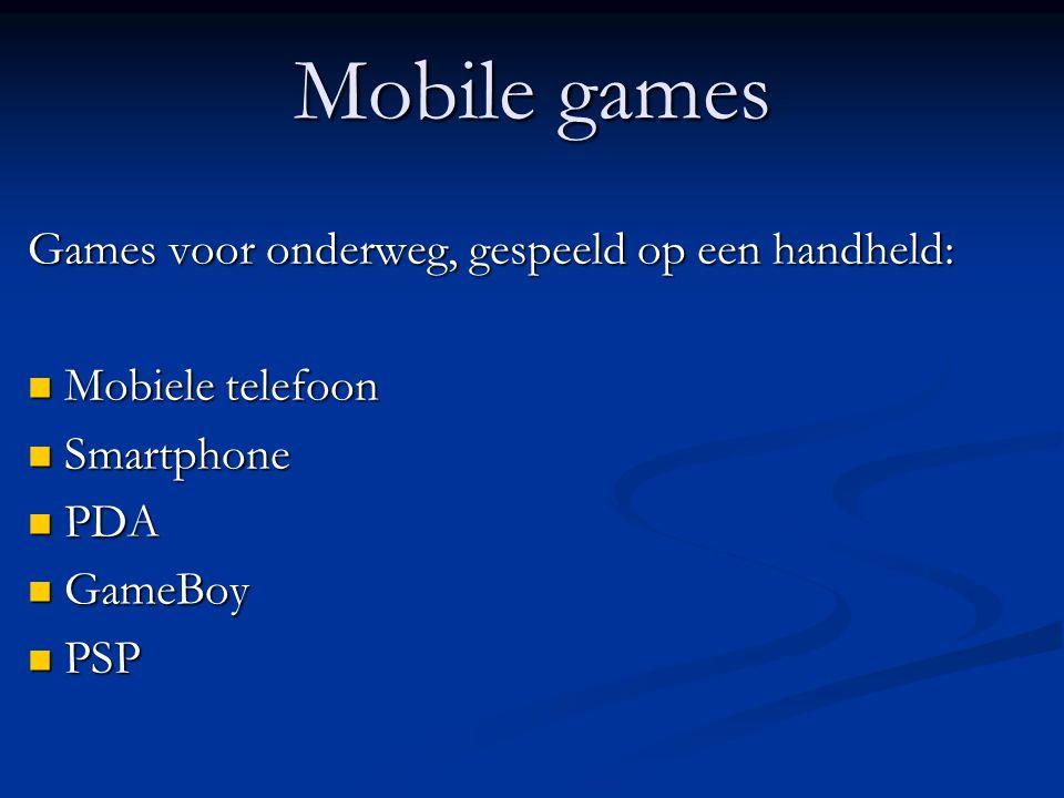Mobile games Games voor onderweg, gespeeld op een handheld: