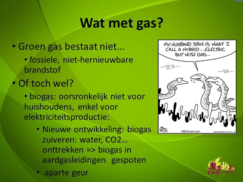 Wat met gas Groen gas bestaat niet... Of toch wel
