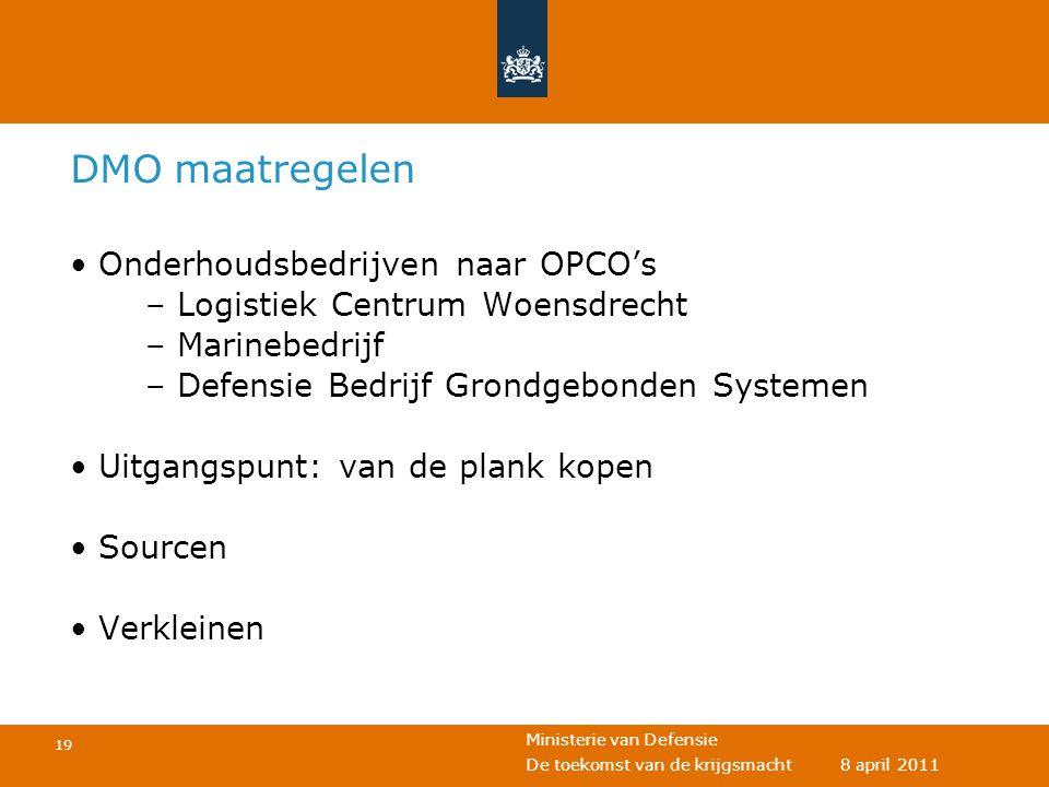 DMO maatregelen Onderhoudsbedrijven naar OPCO's