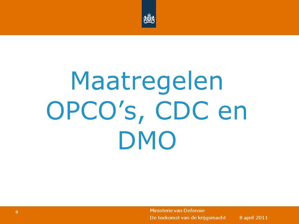 Maatregelen OPCO's, CDC en DMO