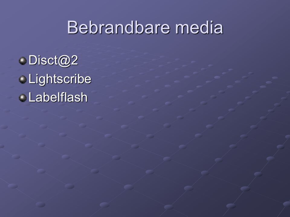 Bebrandbare media Lightscribe Labelflash