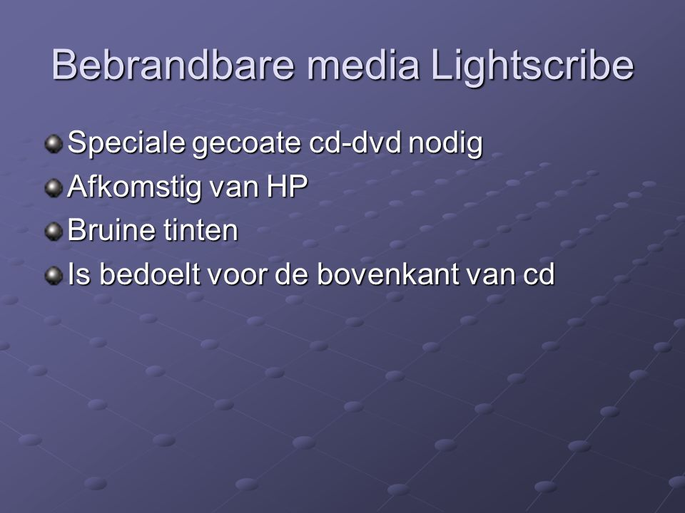 Bebrandbare media Lightscribe