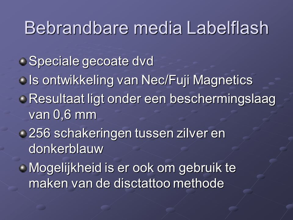 Bebrandbare media Labelflash
