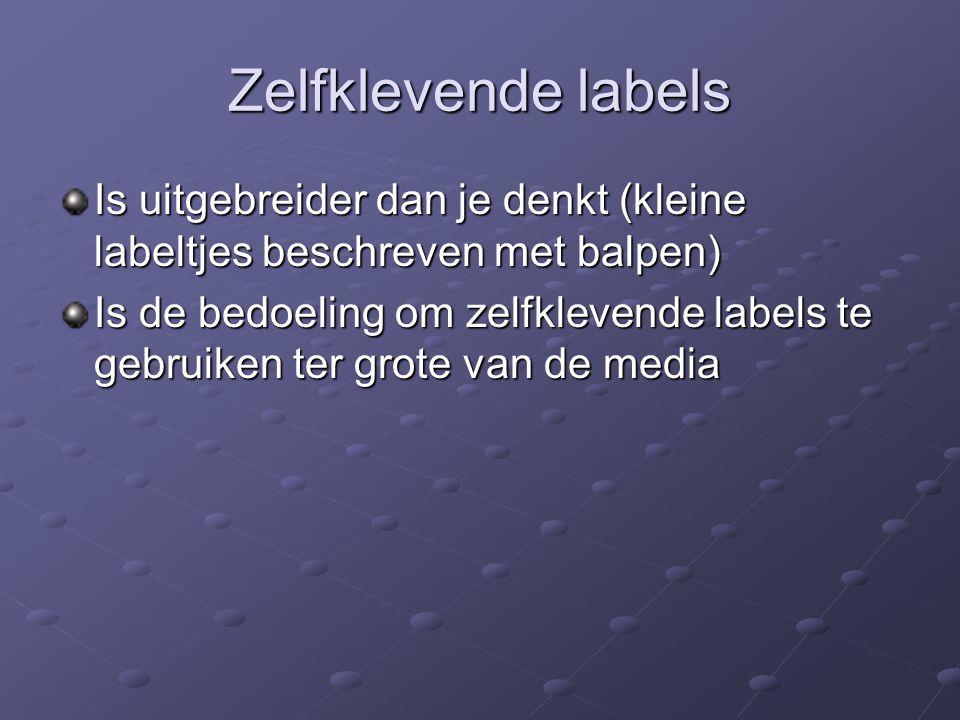 Zelfklevende labels Is uitgebreider dan je denkt (kleine labeltjes beschreven met balpen)