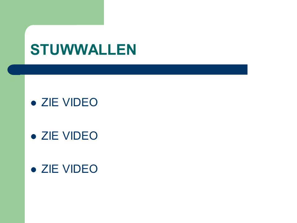 STUWWALLEN ZIE VIDEO