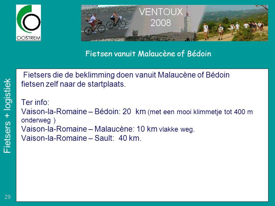 Fietsen vanuit Malaucène of Bédoin