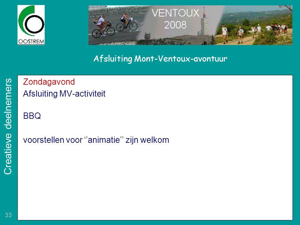 Afsluiting Mont-Ventoux-avontuur