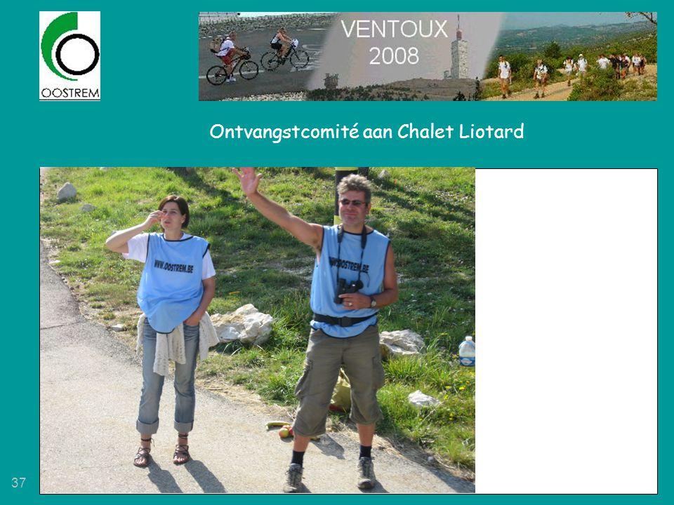Ontvangstcomité aan Chalet Liotard
