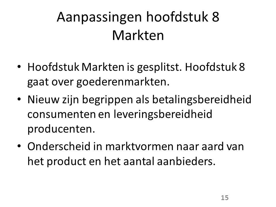 Aanpassingen hoofdstuk 8 Markten
