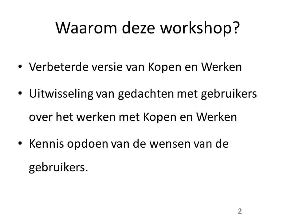 Waarom deze workshop Verbeterde versie van Kopen en Werken