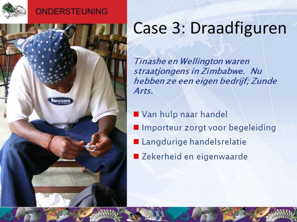 Case 3: Draadfiguren Tinashe en Wellington waren straatjongens in Zimbabwe. Nu hebben ze een eigen bedrijf; Zunde Arts.