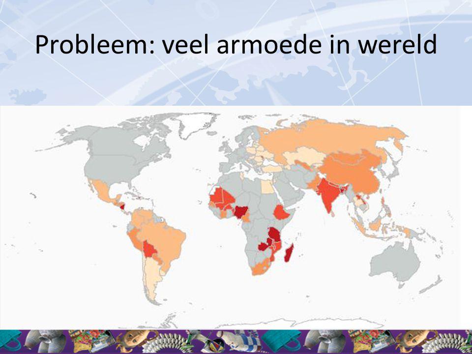 Probleem: veel armoede in wereld