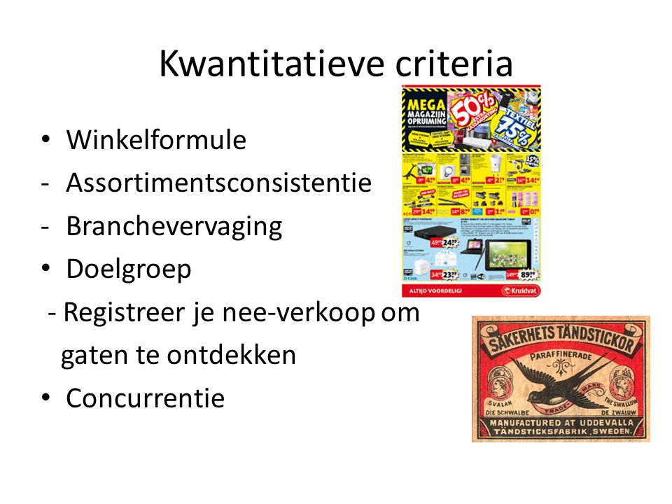 Kwantitatieve criteria