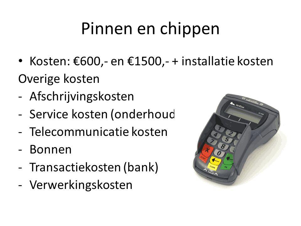 Pinnen en chippen Kosten: €600,- en €1500,- + installatie kosten