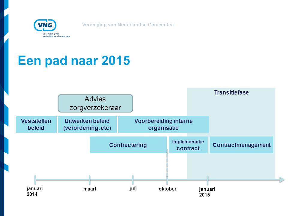 Een pad naar 2015 Advies zorgverzekeraar Transitiefase