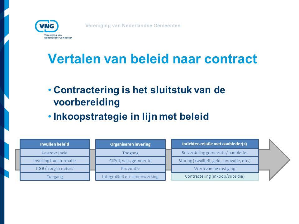 Vertalen van beleid naar contract