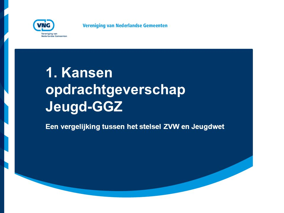 1. Kansen opdrachtgeverschap Jeugd-GGZ