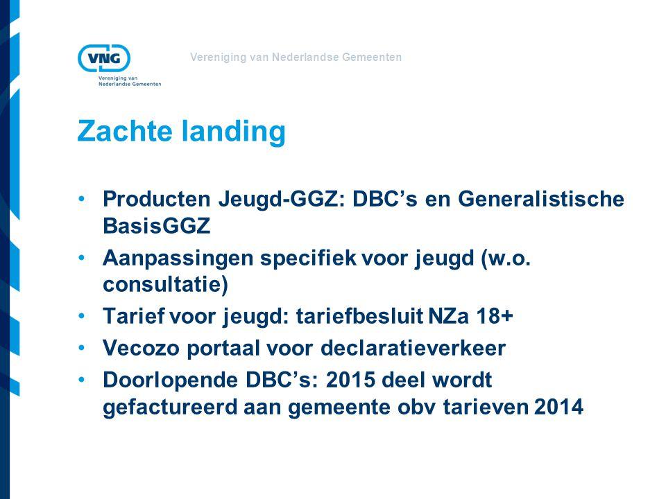 Zachte landing Producten Jeugd-GGZ: DBC's en Generalistische BasisGGZ