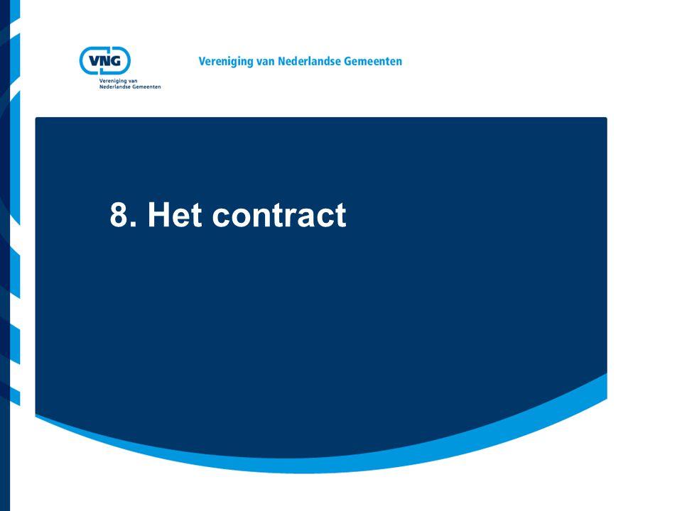 8. Het contract