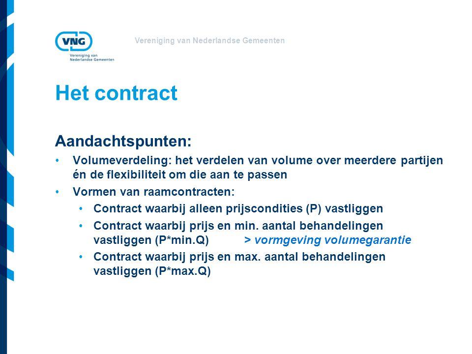 Het contract Aandachtspunten:
