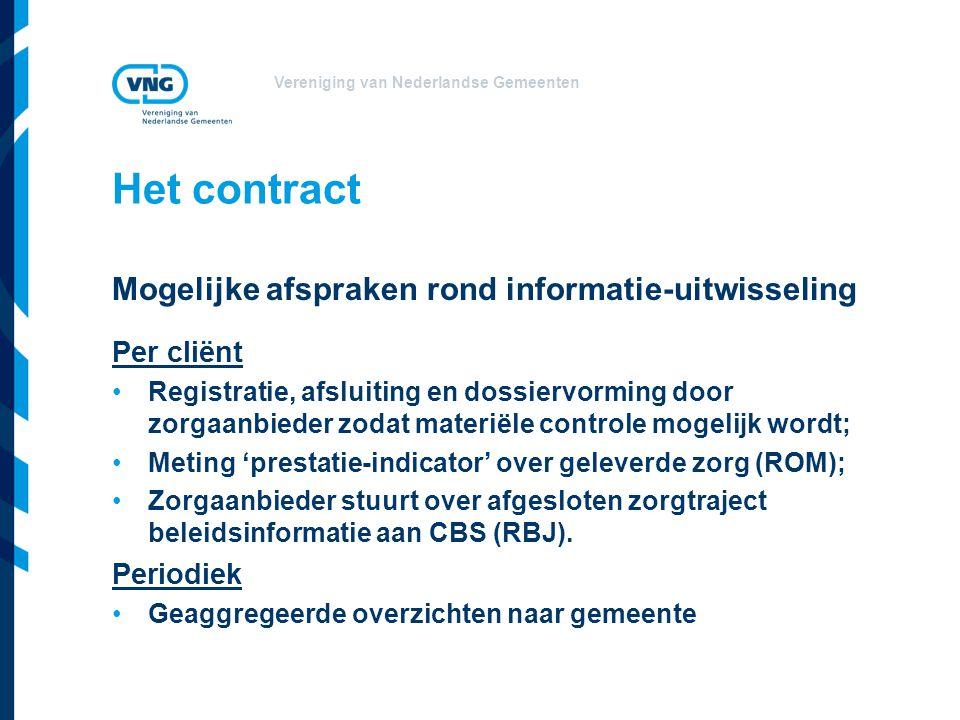 Het contract Mogelijke afspraken rond informatie-uitwisseling