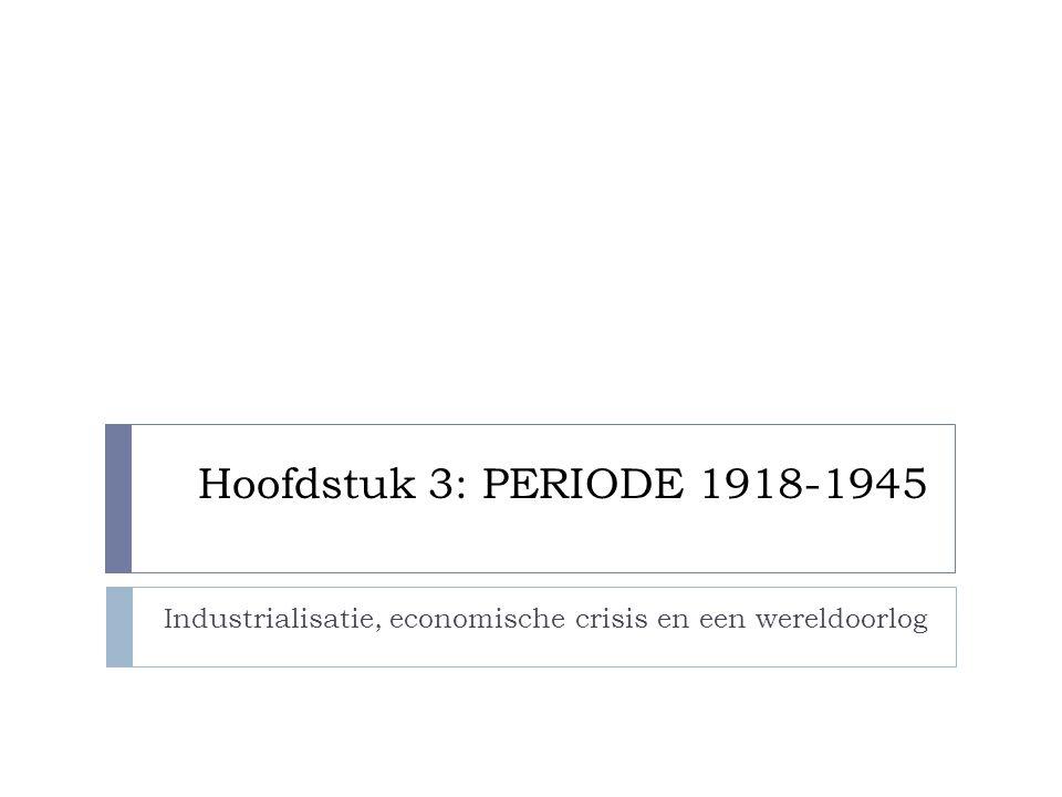 Industrialisatie, economische crisis en een wereldoorlog
