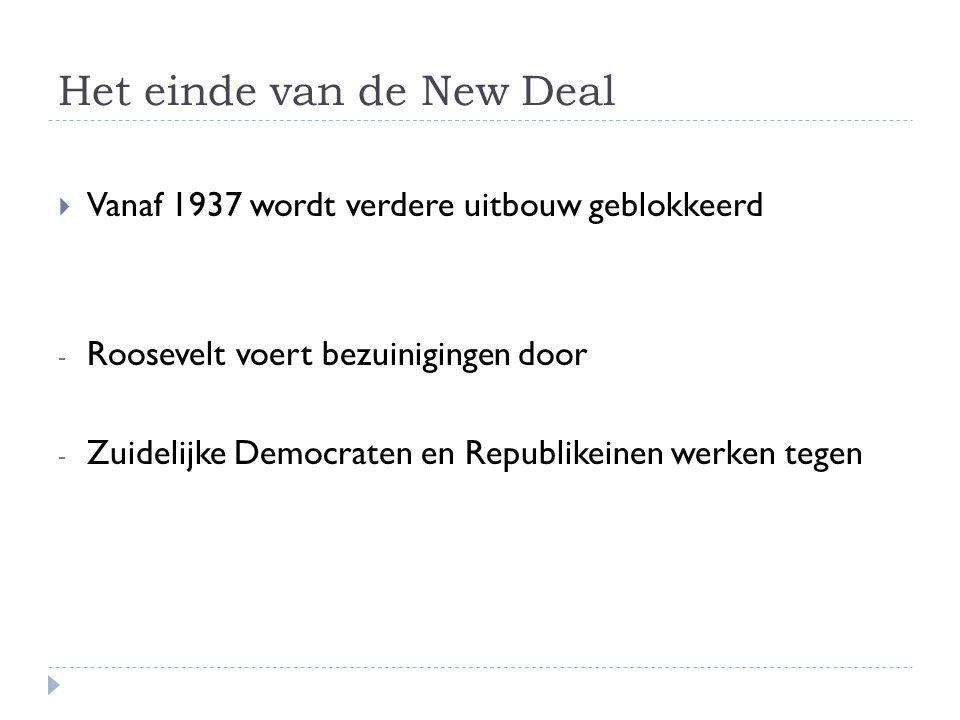 Het einde van de New Deal
