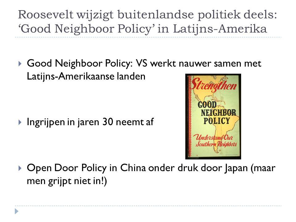 Roosevelt wijzigt buitenlandse politiek deels: 'Good Neighboor Policy' in Latijns-Amerika