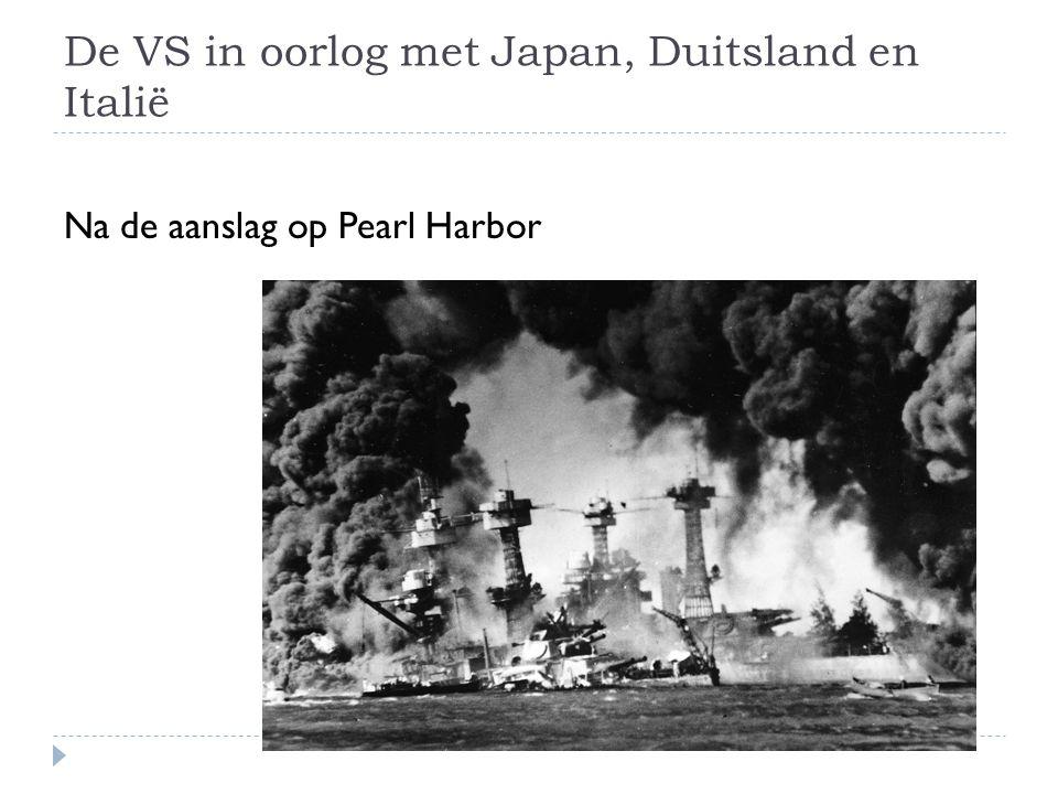 De VS in oorlog met Japan, Duitsland en Italië