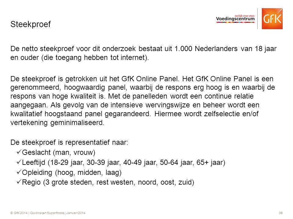 Steekproef De netto steekproef voor dit onderzoek bestaat uit 1.000 Nederlanders van 18 jaar en ouder (die toegang hebben tot internet).