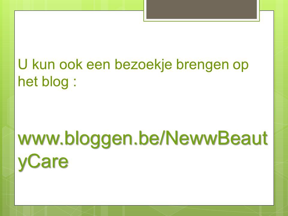 U kun ook een bezoekje brengen op het blog :