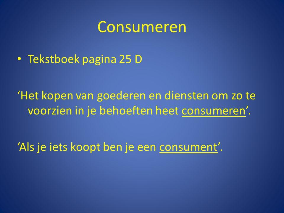 Consumeren Tekstboek pagina 25 D