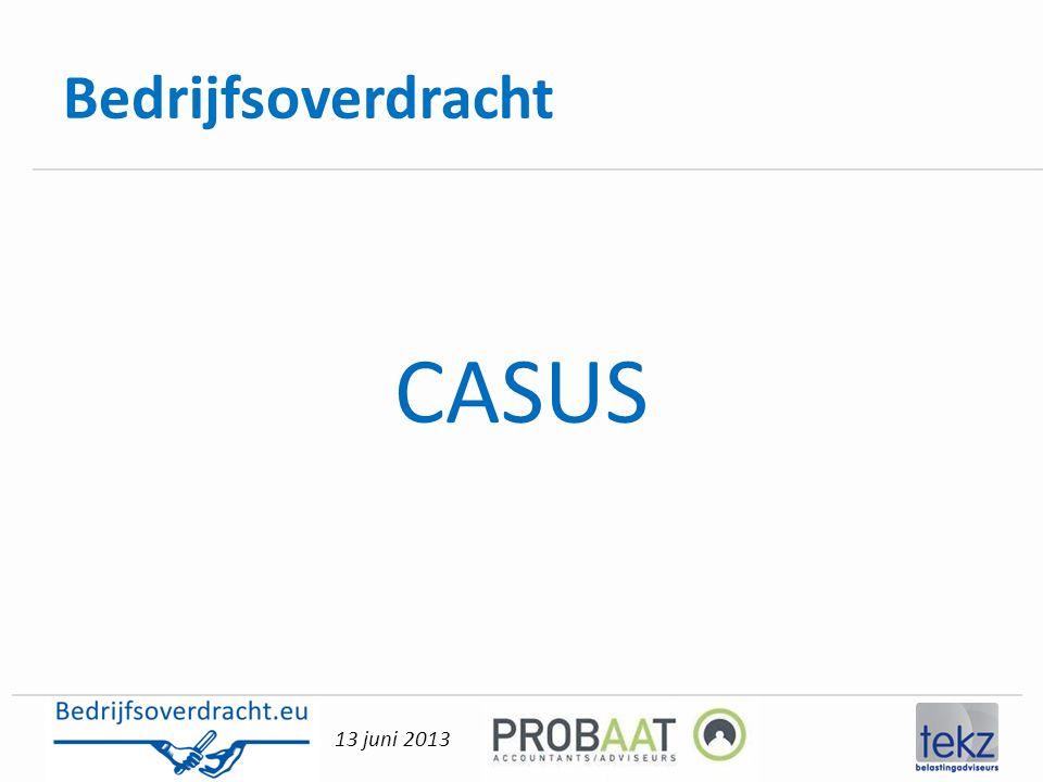Bedrijfsoverdracht CASUS