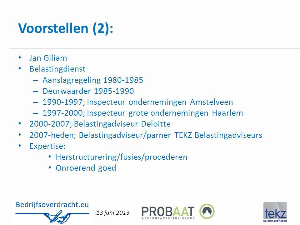 Voorstellen (2): Jan Giliam Belastingdienst Aanslagregeling 1980-1985