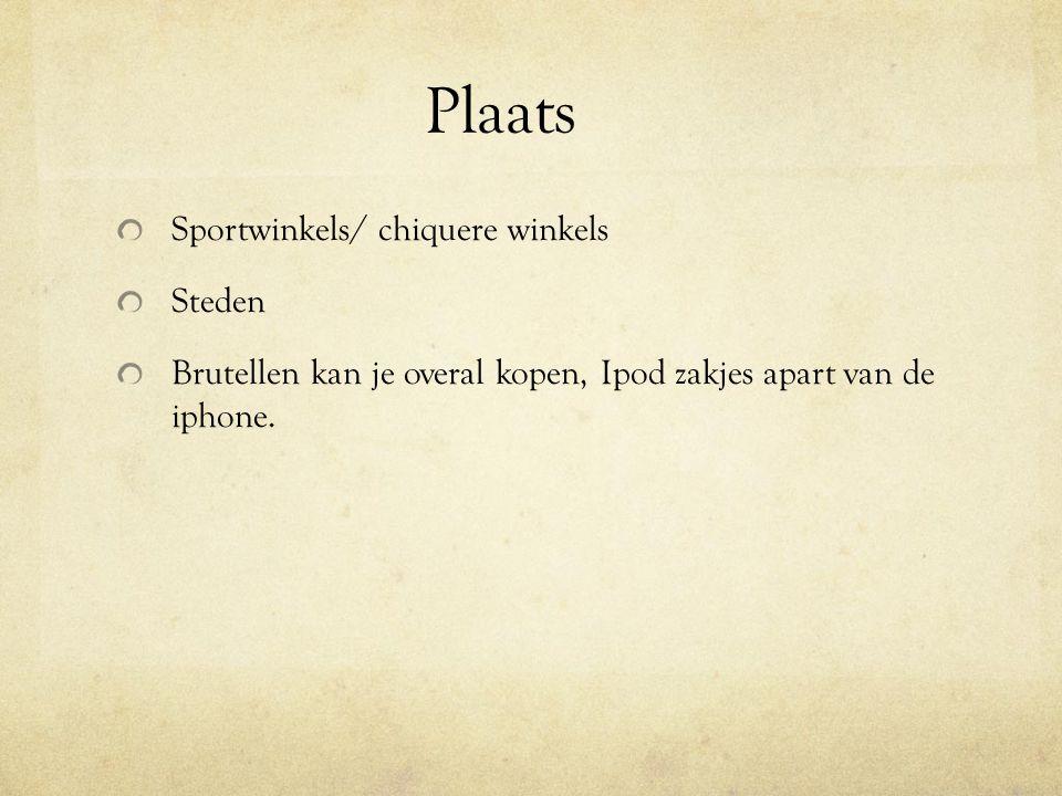 Plaats Sportwinkels/ chiquere winkels Steden