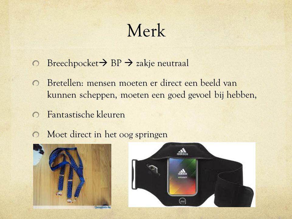 Merk Breechpocket BP  zakje neutraal