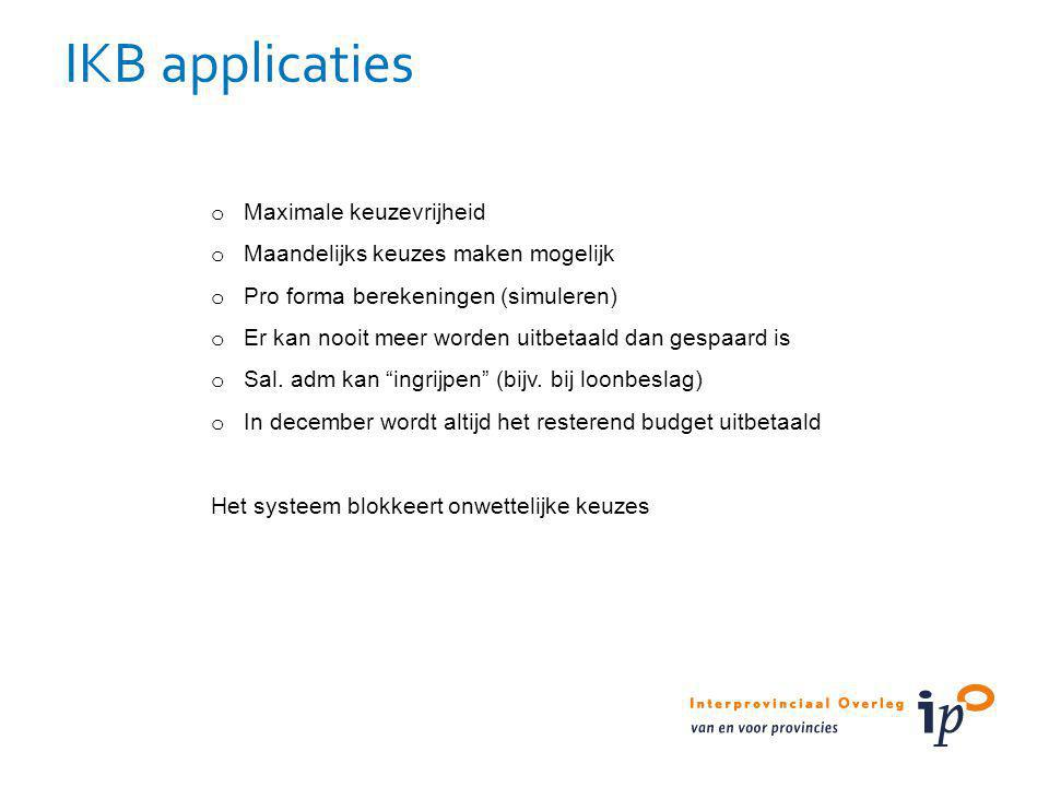 IKB applicaties Maximale keuzevrijheid