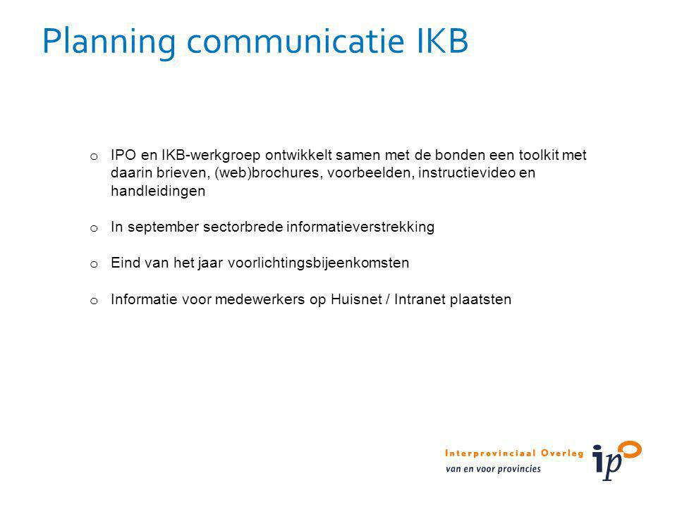 Planning communicatie IKB