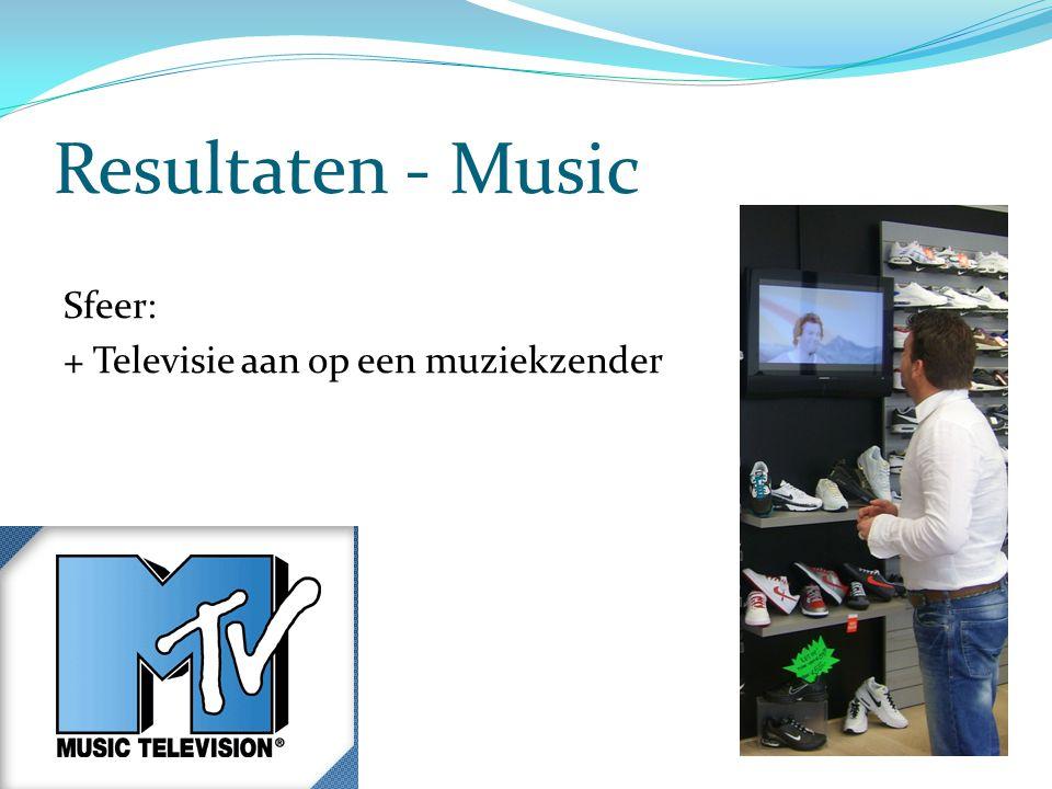Resultaten - Music Sfeer: + Televisie aan op een muziekzender